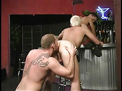 Hairy gay stripper loves to get rimmed in 3 episode