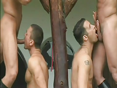 Heavy cowboy into group anal fucking in 2 movie