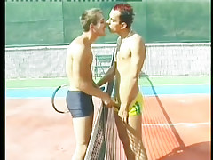 Clammy twinks bone beside a tennis court in 1 episode