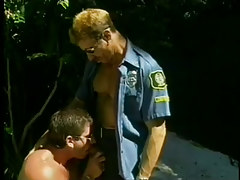 Playing with dick perv sucks off two cops in 1 episode