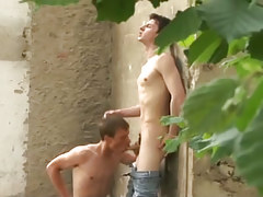 Wild young gay twinks fucking hard outdoors in 2 episode