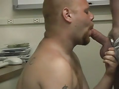 Pooch gets dirty in the office with a moist man in 2 episode