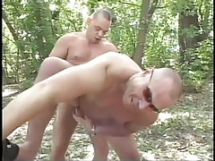 Mature fruit fucking in the bright forest in 4 episode