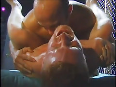 Hunky hot white guys enjoy gay group sex in 4 episode