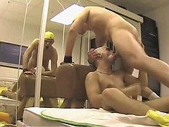 Dilettante but smoking horny guy gets stuffed first time