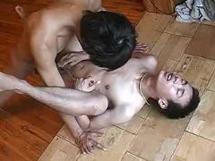 Asian twink obtains his tight ass licked and dicked