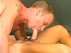 Handsome dudes pleasing each other in sixty nine