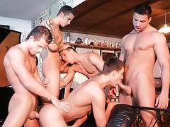 Irving Hunter, Gabriel Thorsten, Julian Vincenzo, Fredy Costa And Geoffrey Garcia Fuck