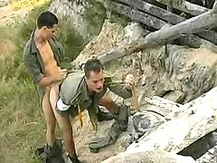 Military gay guys fuck n cum outdoors
