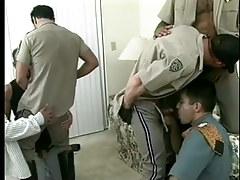 Sweaty homo policemen uniform porn massive orgy in 7 clip