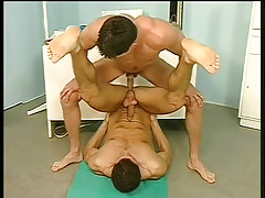 Gay medical fetish with wrestlers in 4 video