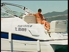 Two guys fucking and swallowing on a boat in 2 clip