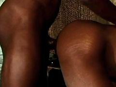 Repulsive black gays anal sex heavily
