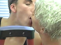 Three extreme twinks lick and sucks in gym