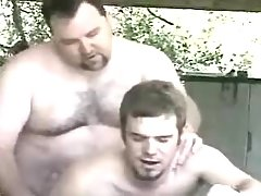 Bear mature gay fucks amateur male in garage