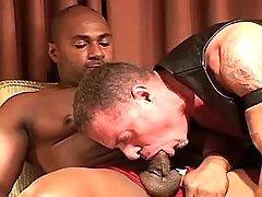 Black feminized male serves lusty mature gay