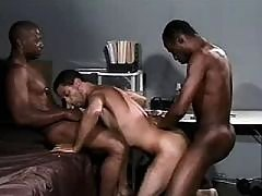 Dark stud getting nastily pounded