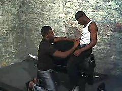 Wild ebony gay gets stuffed heavily