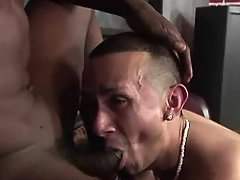 Nasty bad black gay getting slammed