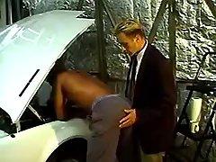 Gay stuffs cock in tight ebony hole