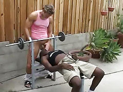 Ebony gay gullets appetizing dick outdoor