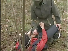 Rogue homosexual guys jerk together in nature