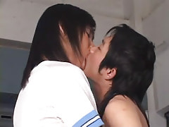 Asian twinks kiss each other