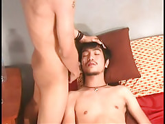 Eastern boy gets hot facial