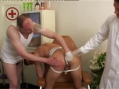 Gay doctor and man fingering tight hole by distorts