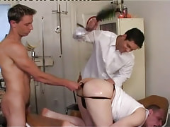 Dirty twinks spank and dildofuck males ass