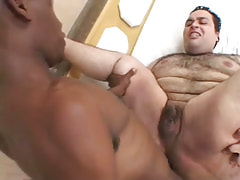 Murky stud drills hairy males asshole
