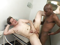 Ebony gay screws tight males asshole