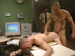 Muscle gay bonks man in doggy style