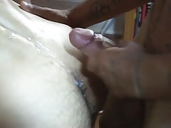 Latin gay boy jizzes on hairy ass
