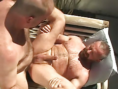 Hairy man-lover men hard fuck outdoor