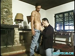 Lusty dad sucks innocent latin lad