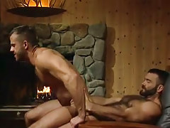 Horny bear dilf rides severe snake in house hunting