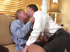 Horny mature fruits take up with the tongue and make blowjob