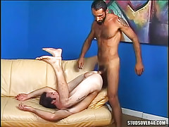 Sexually excited gay dilf fucked by mature hairy stallion