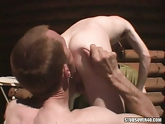 Hungry gay licking males ass on tearrace