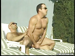 Mature gay rides cock of bear gay outdoor