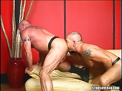 Bear gay licks out mature muscle a-hole