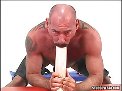 Mature hairy gay mouths giant dildo
