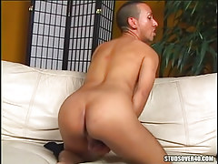 Lusty gay shows appetizing ass