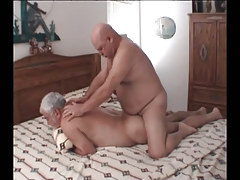 Chubby mature gay guy gets real anal fuck
