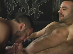 Bear gay sucks his grown boyfriend