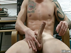 Gay male masturbates
