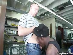 Gay gentleman sucked by black guy