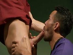 Horny doctor greedily sucks cock