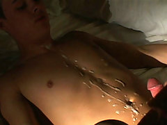 college homosexual gets ass screwed and front cummed